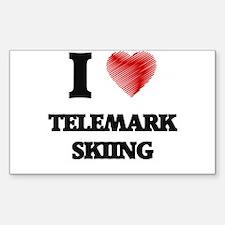 I Love Telemark Skiing Decal