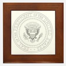 Cute Government Framed Tile