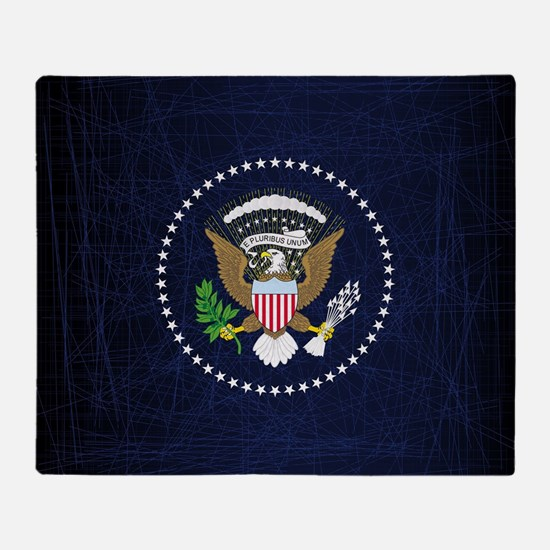 Cute American bald eagle Throw Blanket