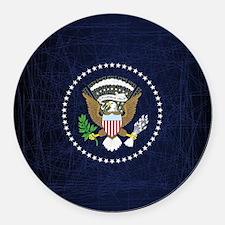 Funny President Round Car Magnet