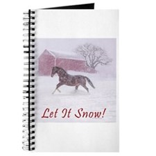 Let It Snow! Christmas Horse Barn Journal