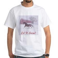 Let It Snow! Christmas Horse Barn Shirt