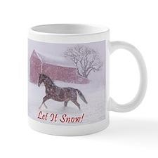 Let It Snow! Christmas Horse Barn Mug