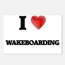 I Love Wakeboarding Postcards (Package of 8)