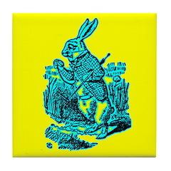 White Rabbit Tile Coaster