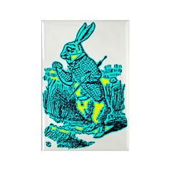 White Rabbit Rectangle Magnet (10 pack)