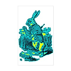 White Rabbit Rectangle Decal