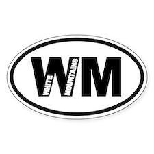 White Mountains WM Oval Decal
