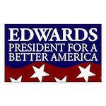 Edwards for America bumper sticker