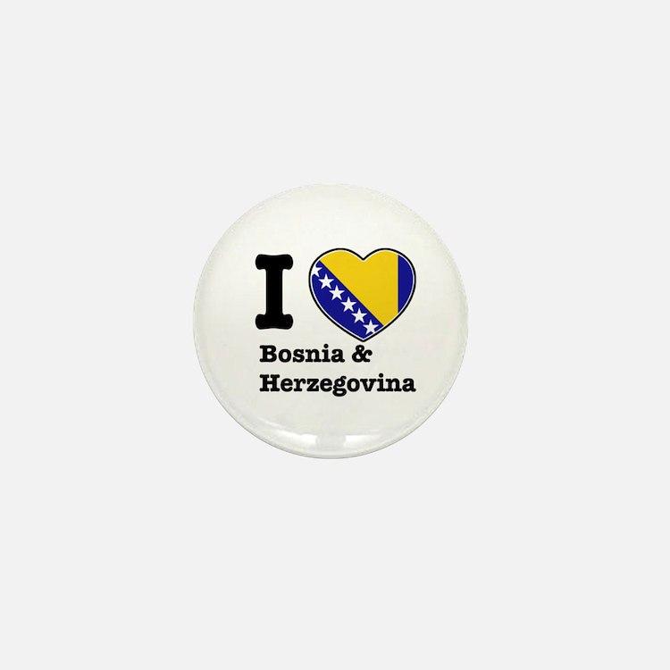 I love Bosnia and Herzegovina Mini Button