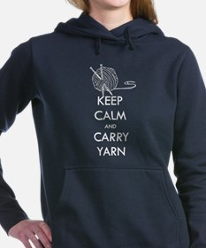Cute Keep calm carry Women's Hooded Sweatshirt