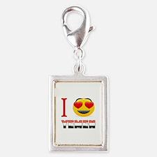 I love Yemen Silver Portrait Charm