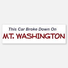 This car broke down on Mt Washington Bump Bumper Bumper Sticker