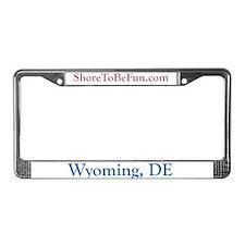 Wyoming DE License Plate Frame