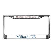 Milford DE License Plate Frame