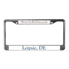 Leipsic DE License Plate Frame