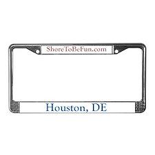 Houston DE License Plate Frame