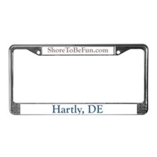 Hartly DE License Plate Frame