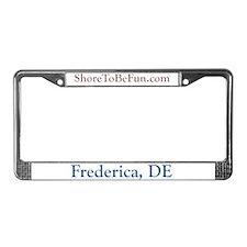 Frederica DE License Plate Frame