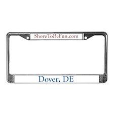 Dover DE License Plate Frame