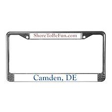 Camden DE License Plate Frame