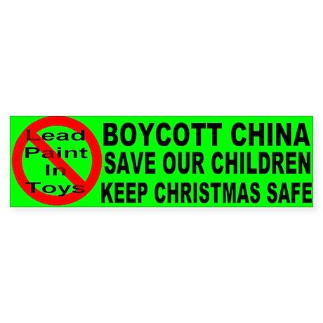 Boycott China Xmas Bumper Sti Bumper Sticker