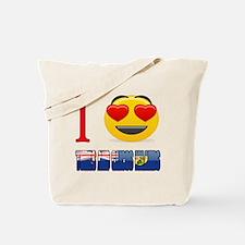 I Love Turks and Caicos Islands Tote Bag
