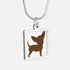 Chihuahua Two Brown 1C Necklaces