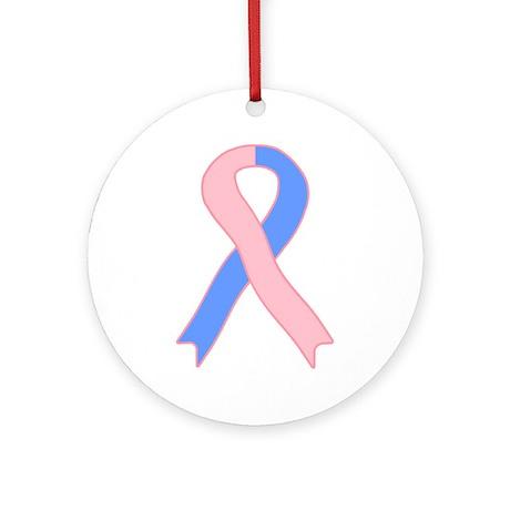Pink Ribbon Ornament (Round)