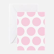 Pink, Baby: Polka Dots Pattern (Larg Greeting Card