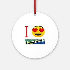 I love Tanzania Round Ornament