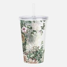Flowers Painting Acrylic Double-wall Tumbler