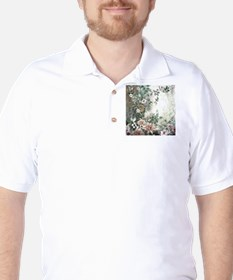 Flowers Painting Golf Shirt
