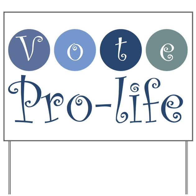 Backyard Abortion: Vote Pro-life Yard Sign By DavetDesigns