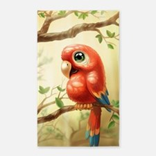 Cute Parrot Area Rug