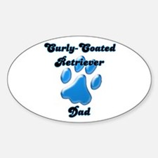 Curly-Coat Dad3 Oval Decal