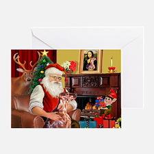 Santa's Irish Setter Greeting Card
