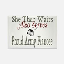 she that waits proud army fiancee Rectangle Magnet