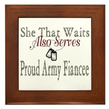she that waits proud army fiancee Framed Tile