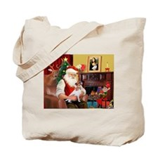 Santa's Jack Russell Tote Bag