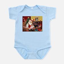 Santa's Jack Russell Infant Bodysuit