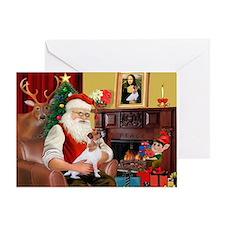 Santa's Jack Russell Greeting Card