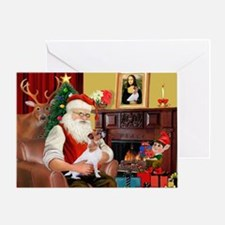 Santa's Jack Russell Greeting Card