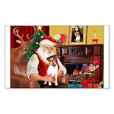 Santa's JRT Rectangle Decal