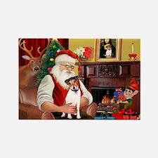 Santa's JRT Rectangle Magnet