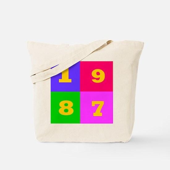 1987 Years Designs Tote Bag