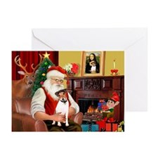 Santa's JRT Greeting Cards (Pk of 10)