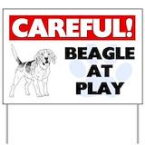 Beagle yard sign Yard Signs