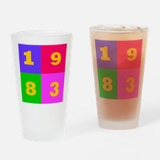 1983 Years Designs Drinking Glass