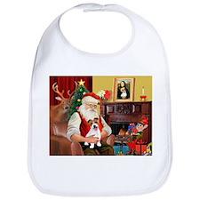 Santa's JRT pup Bib